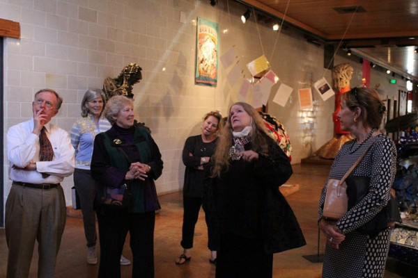 AVAM founder Rebecca Alban Hoffberger is hands-on with the museum's operations. She even sometimes acts as a tour guide herself. (Photo by Eugene Y. Santos)