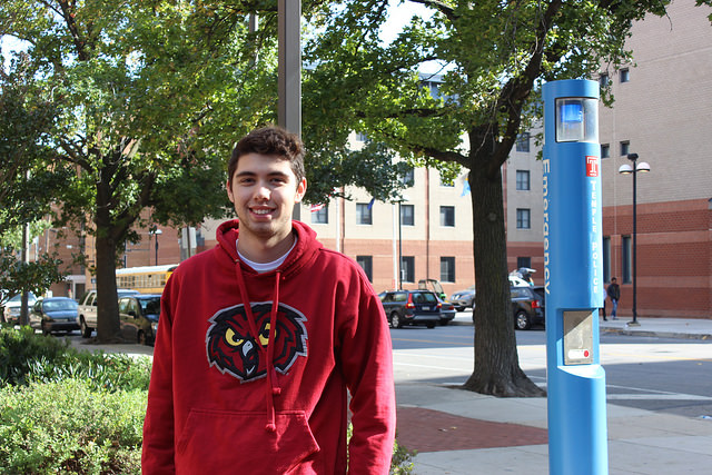 Sam Feldman, 18, of South Jersey, is a student at Temple University who is voting this year because he is finally at the age where he can. By Jennifer Cohen
