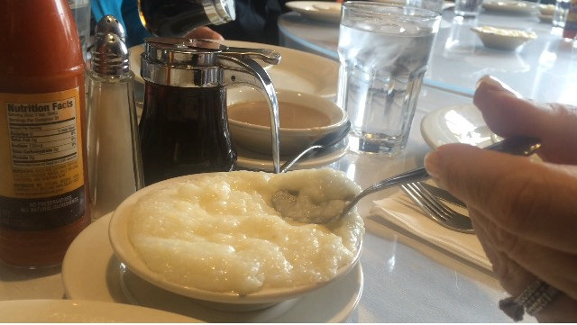 A highlight On the Taste Harlem Food & Cultural Tours is eating grits at the legendary Sylvia's Restaurant. Photo by Natasha Abellard